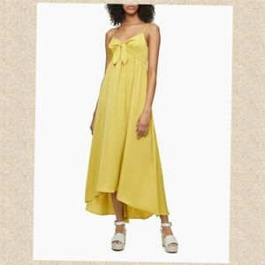 Calvin Klein tie dress yellow - asymmetric